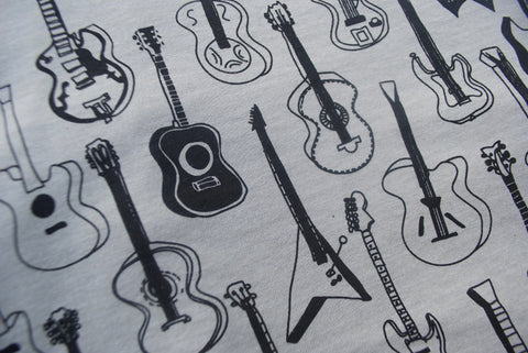 Guitars Pattern Heather Stone T Shirt - New Fashion Short Sleeves Top
