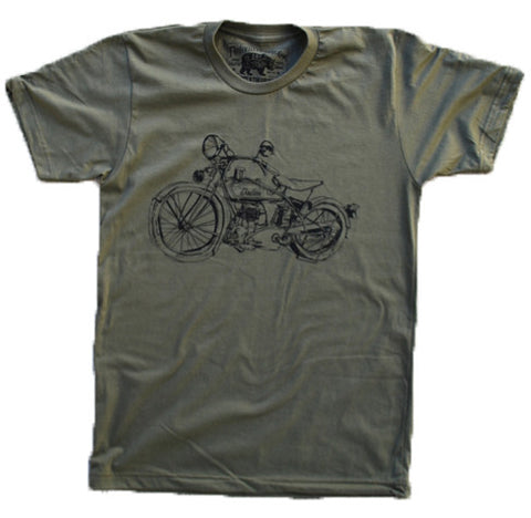 1929 Indian Motorcycle Army - Summer Short Sleeves Top - O Neck Tee
