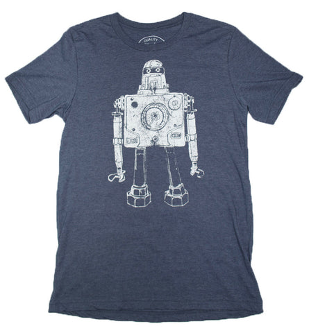 Mr Roboto Heather Navy - Paulville Goods  - 1