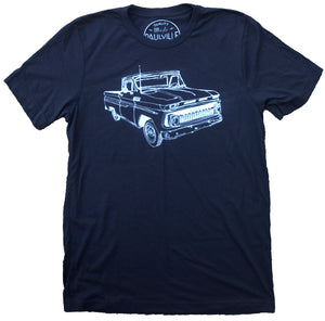 Old Chevy Truck Print T Shirt - New Arrival Summer Short Sleeves Top