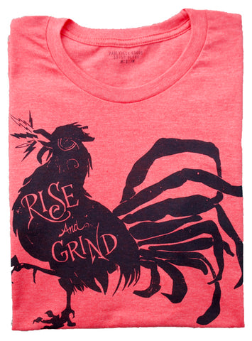 Rise and Grind Heather Red T Shirt - Men's Short Sleeves Top 2019