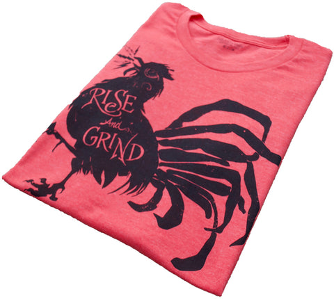 Rise and Grind Heather Red