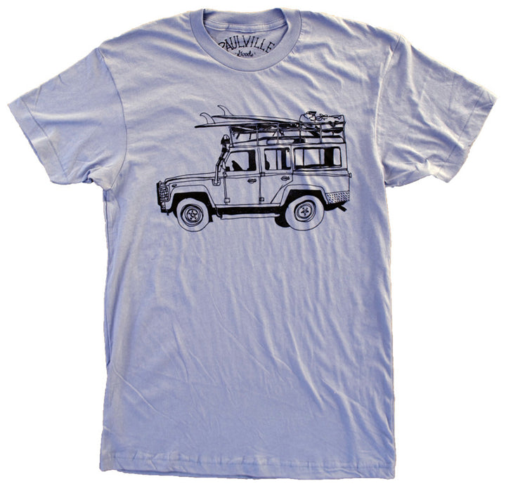 Surf Truck Blue T Shirt - Men's Summer Short Sleeves Top Fashion 2019