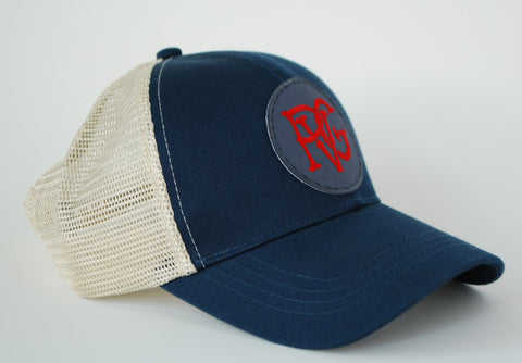 PVG Trucker Hat Navy - Paulville Goods  - 2