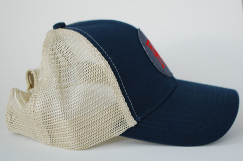 Men's PVG Trucker Hat - Navy Dad Cap - Best Baseball Hat Online