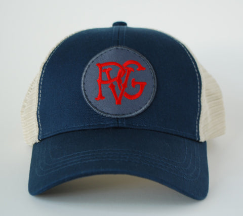 PVG Trucker Hat Navy - Paulville Goods  - 1