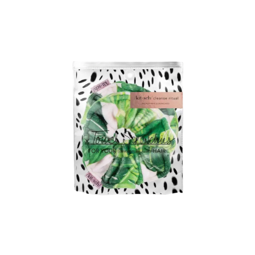 KITSCH Towel Scrunchies in Palm Print (2 pack)