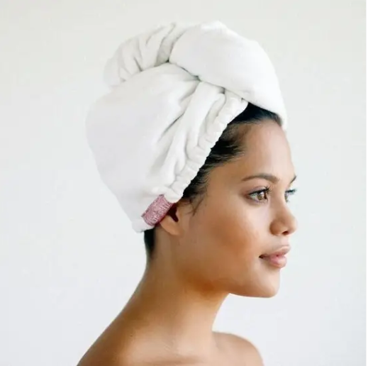 KITSCH White Microfiber Hair Towel
