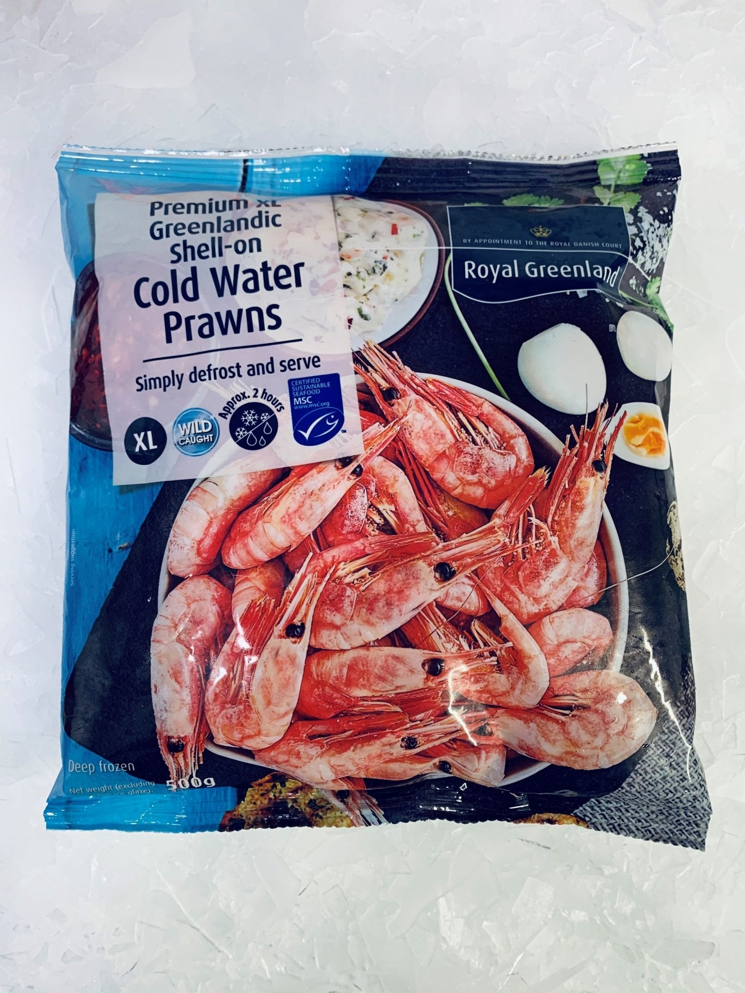 Premium Shell-on Coldwater Prawns - S&J Fisheries