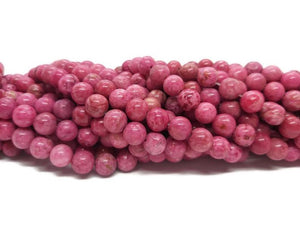 Agate crazy lace Rose -Perles de 8 mm - Fil de 19 cm