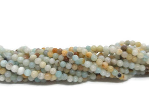 Amazonite - Perles de 4 mm - Fil de 38 cm