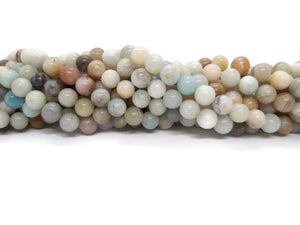 Amazonite - Perles de 8 mm -Fil de 38 cm