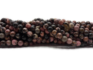 Rhodonite - Perles de 6 mm - Fil de 19 cm