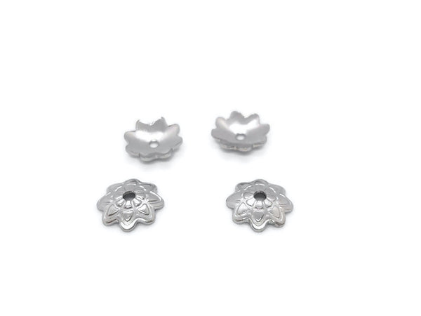 Coupelles pétales 7 x 1,5 mm - Inox - Lot de 40