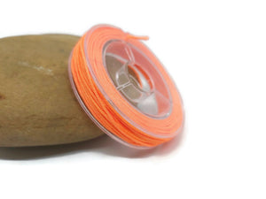 Fil nylon orange 0,8 mm - Bobine de 10 mètres