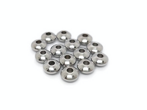 Perles abaque inox 6 x 3 mm - Lot de 20