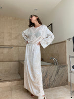 Vintage Long dress Panne Velvet adorned by Jen Wonders