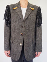 100% Wool Vintage blazer adorned by Jen Wonder