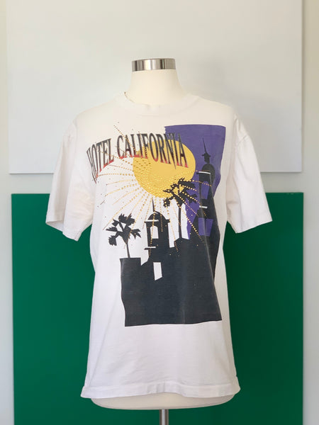 Vintage Hotel California T-shirt adorned by Jen Wonders