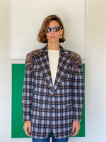 Vintage wool blazer adorned by Jen Wonders