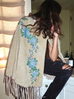Suede Cape adorned by Jen Wonders