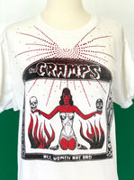 Vintage The Cramps T-shirt adorned by Jen Wonders