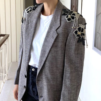 Veritable St Laurent blazer adorned by Jen Wonders