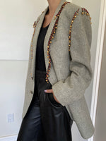 Oversized Vintage Pure Wool Blazer adorned by Jen Wonders