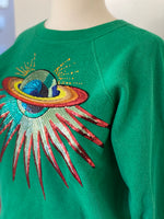 Vintage sweatshirt adorned by Jen Wonders