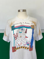 Vintage Bay & Bruckers T-shirt adorned by Jen Wonders