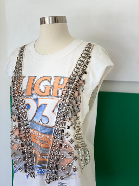 Vintage Racing Tank Top adorned by Jen Wonders