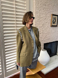 Vintage Wool Blazer adorned with chains by Jen Wonders