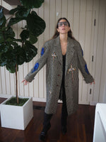 Men style vintage Coat adorned by Jen Wonders.