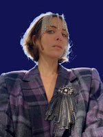 Vintage Plaid Blazer adorned by Jen Wonders