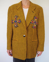 Wool Vintage oversized blazer adorned by Jen Wonders