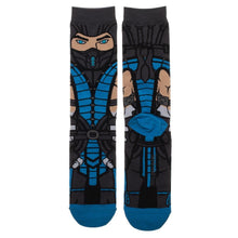 Load image into Gallery viewer, Mortal Kombat Sub Zero 360 Character Crew Sock