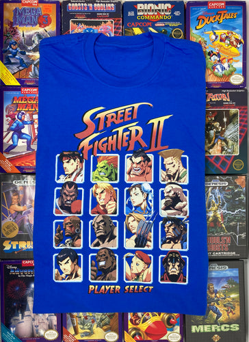 Super Street Fighter II: The New Challengers (Player Select) T-Shirt