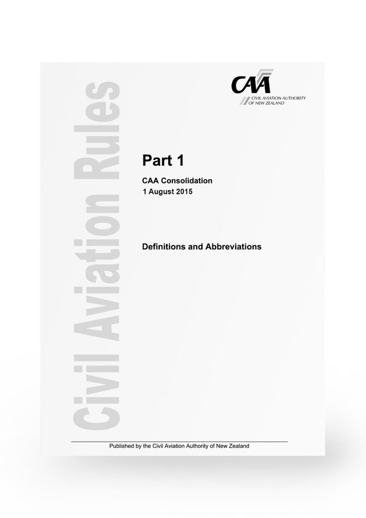 CAA Rule Parts - Amendments Effective 10th March 2017