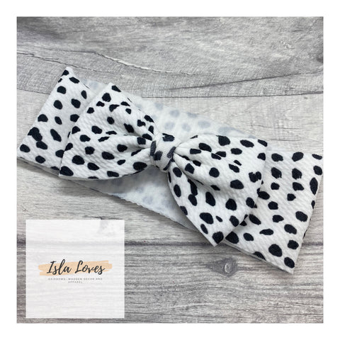 Dalmatian headbands with bow