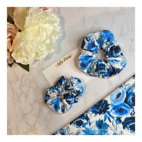 Blue roses Scrunchies
