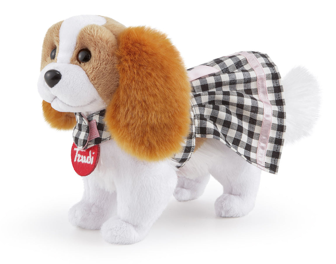 Pets Cavalier King Charles in a Darling Dress - 22cm