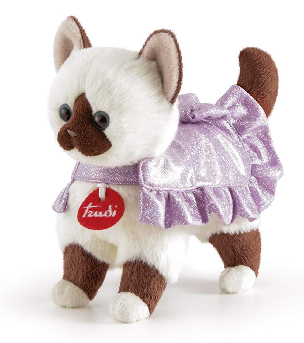 Pets Burmese Cat in a Romantic Lilac Dress - 23cm