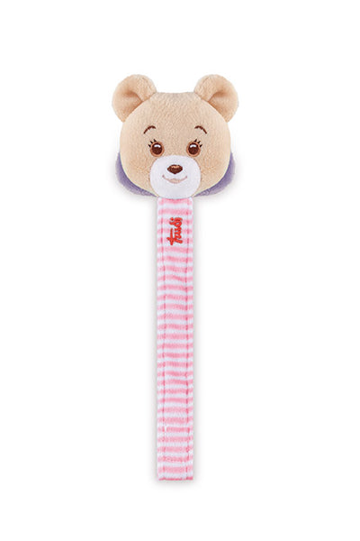 Baby Sweet Bear Pacifier Clip Pink
