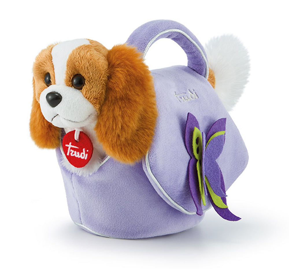 Pets Puppy dog in a Lilac Bag with Butterfly - 26cm