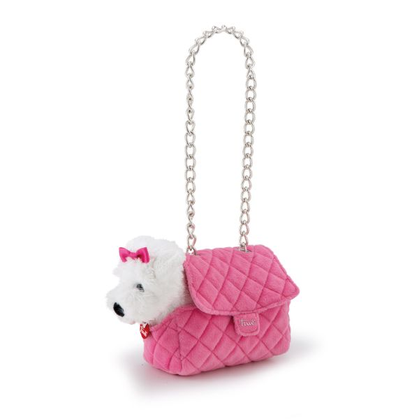 Pets Maltese in Pink Bag - 20cm