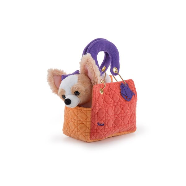 Pets Chihuahua in Orange Bag
