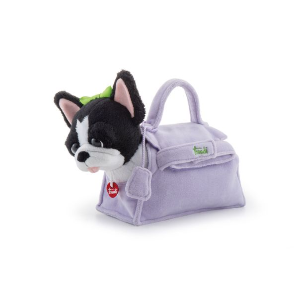 Pets French Bulldog in Lilac Bag - 20cm