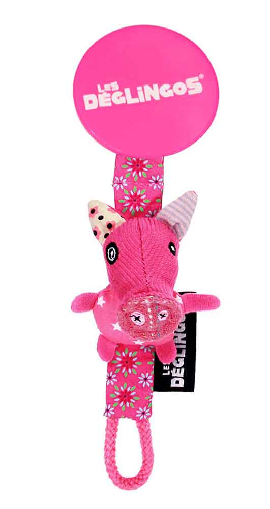 Pacifier Clip Jambonos the Pig