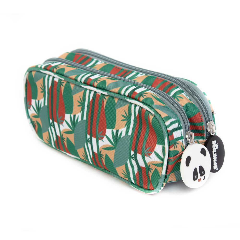 2 Zip / Double Compartment Pencil Case Rototos the Panda