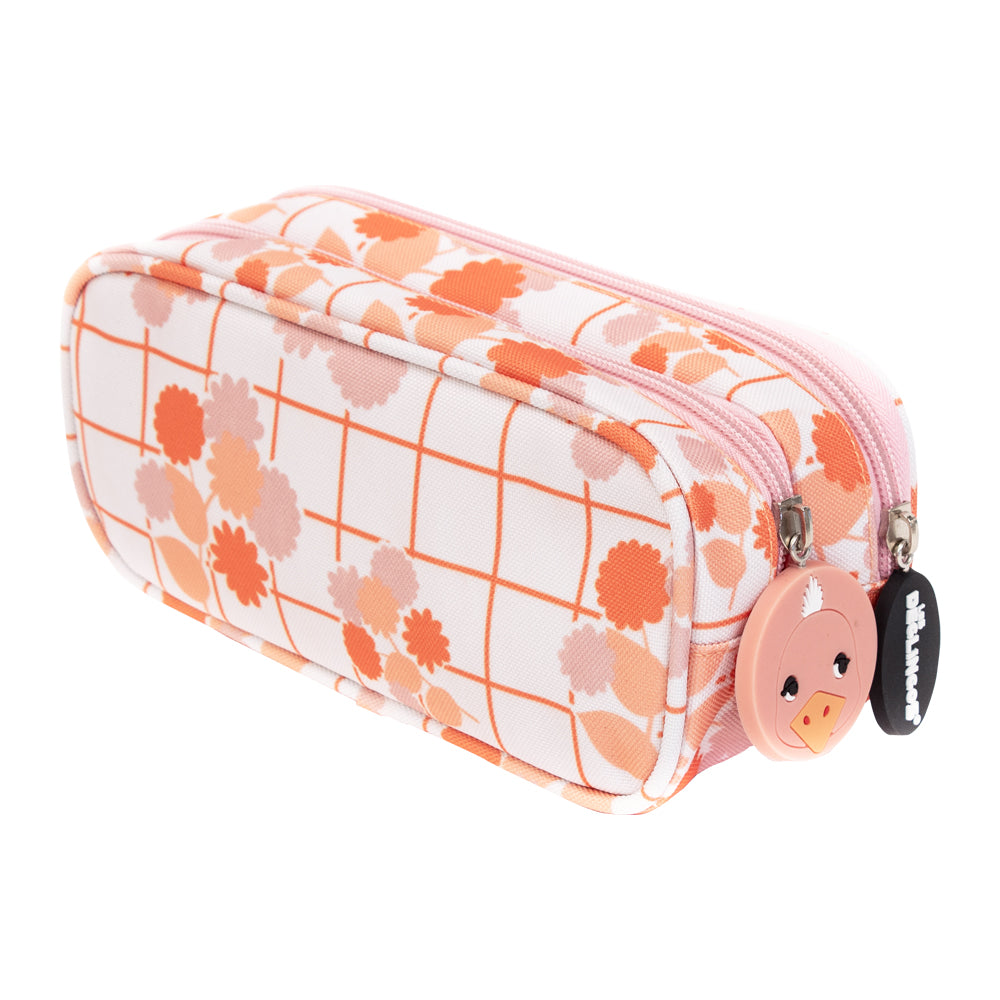 2 Zip / Double Compartment Pencil Case Pomelos the Ostrich